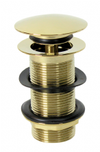 Round Clicker Basin Waste Brass Gold Colour Premium Quality Fits our Moroccan Washbasins Sinks